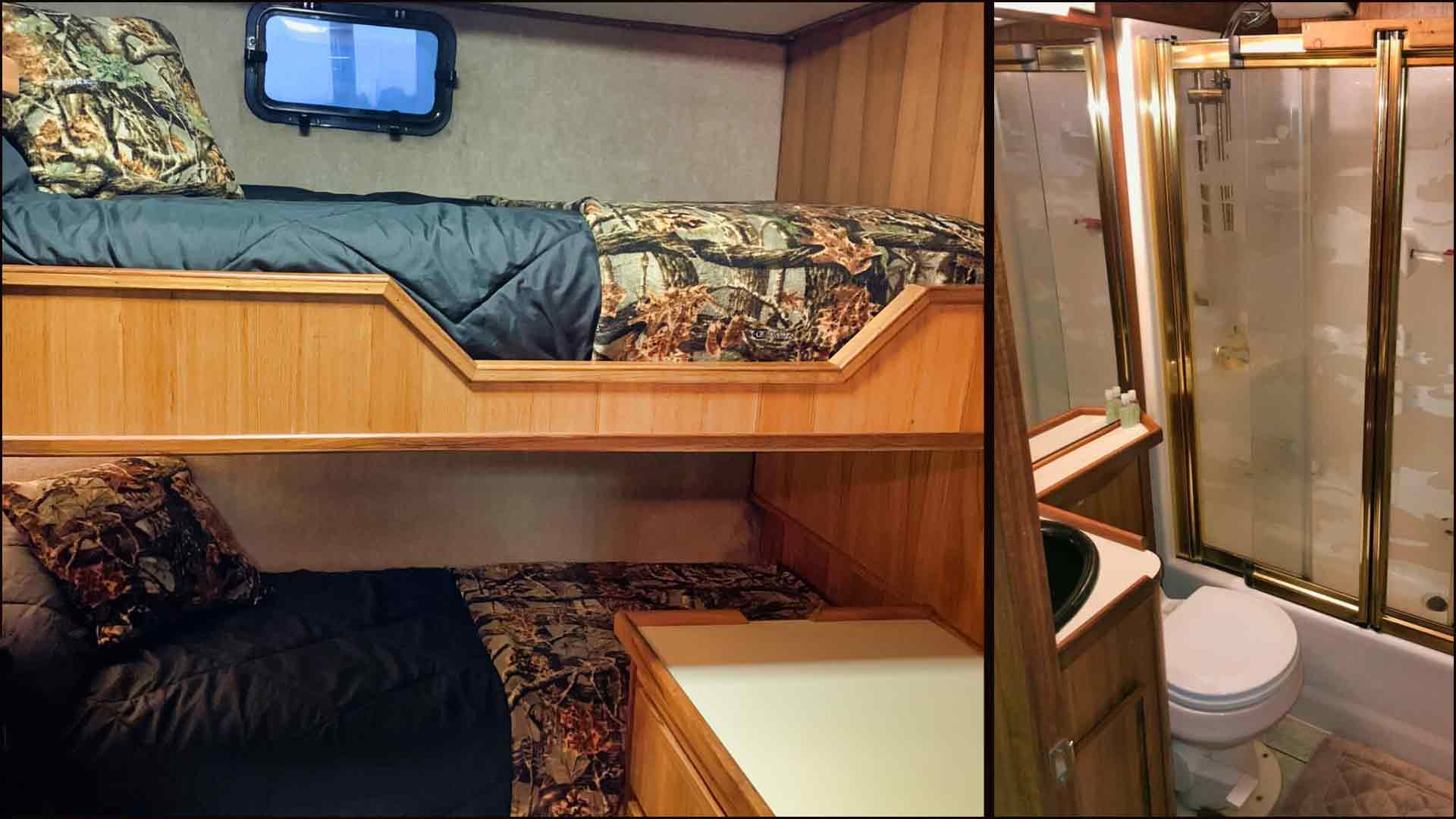 Bunks and Bathrooms