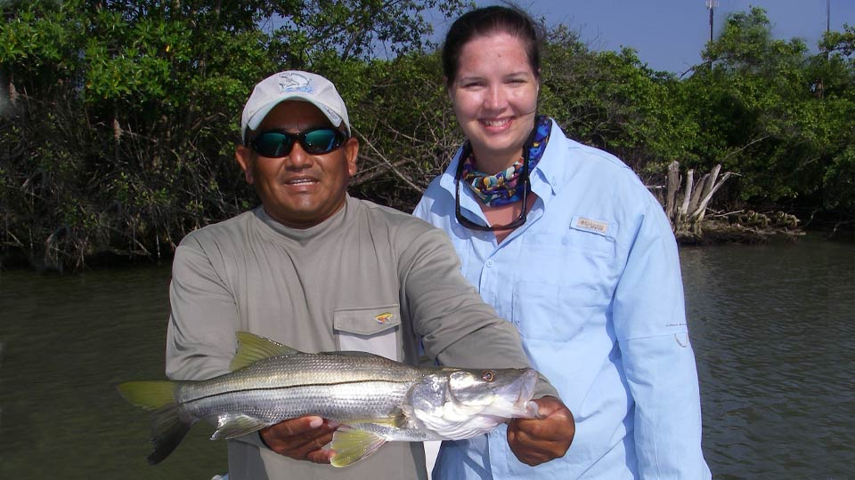 Sheila and Guide with Snook