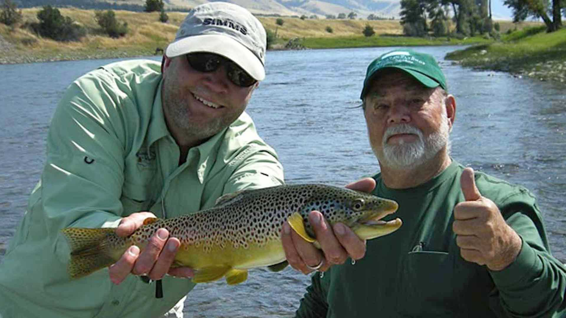 Fly fishing the Yellowstone