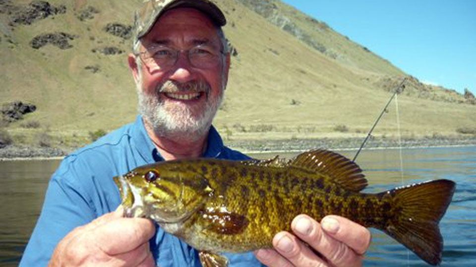 George with Smallmouth Bass