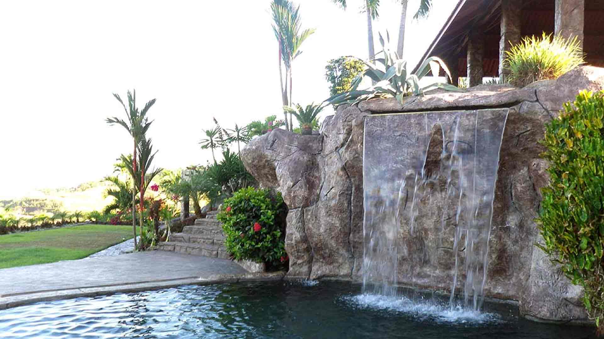 Swim-Up Bar and Waterfall